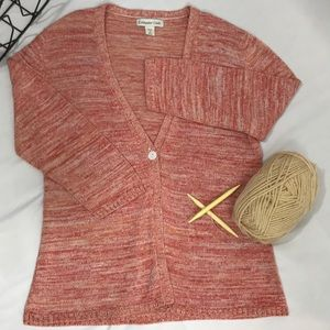 Coldwater Creek Sweaters - Coldwater Creek- Red/Orange cardigan size M